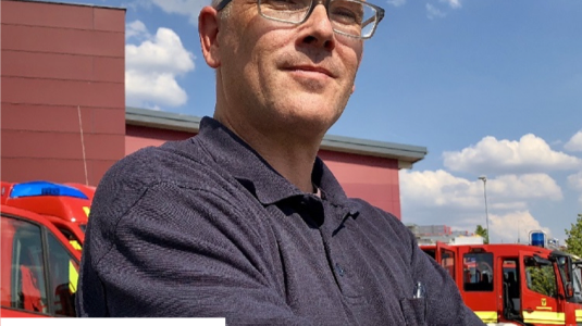 Dirk Aschenbrenner, Präsident der Vereinigung zur Förderung des Deutschen Brandschutzes e.V. (vfdb), sowie Direktor der Feuerwehr Dortmund